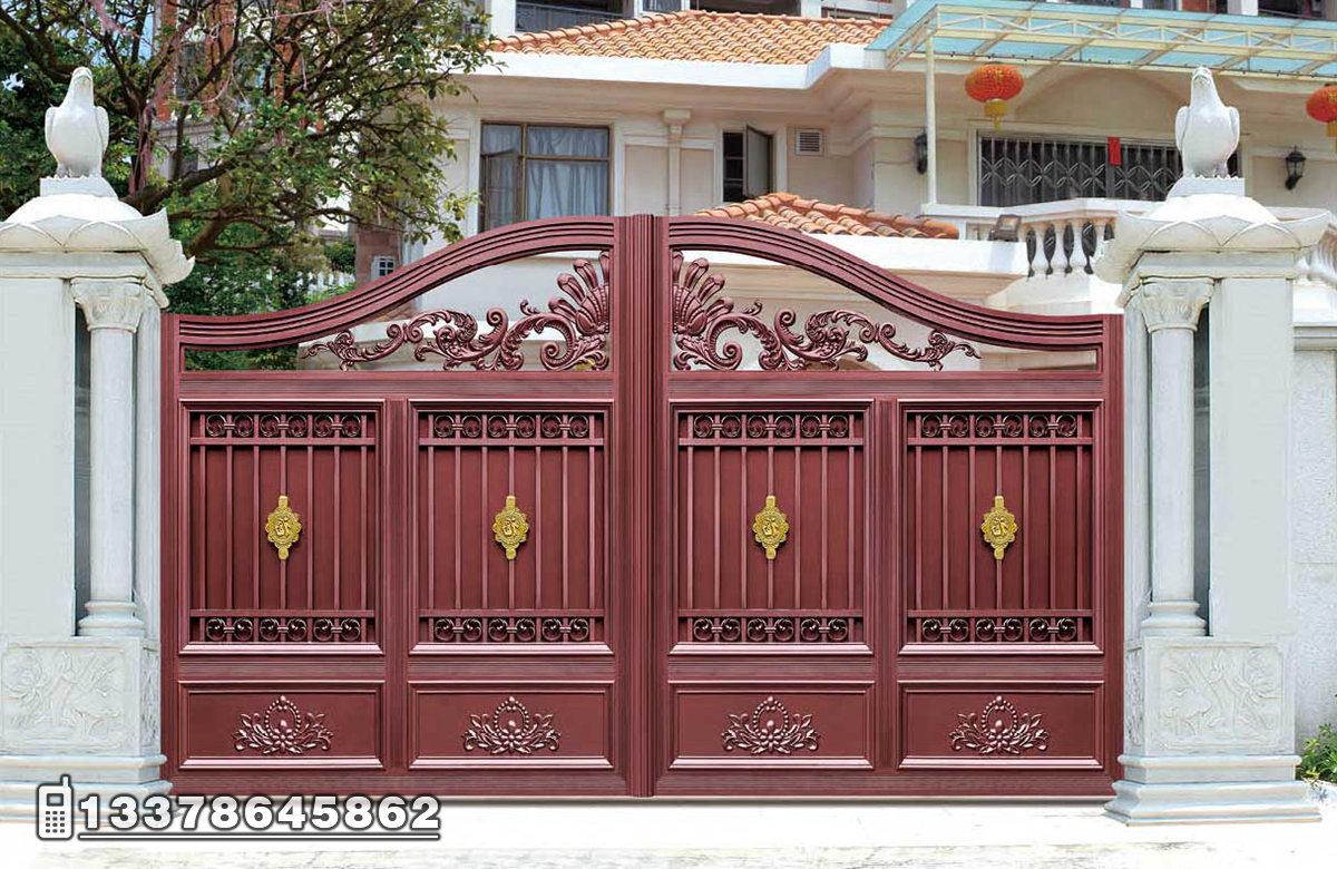 别墅围墙大门 庭院围墙大门效果图